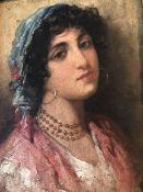 Giuseppe GIARDIELLO 1887-1920 PORTRAIT OF ITALIAN GIRL