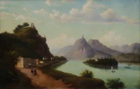 Walther Wünnenberg 1818 - 1900 View over the Rhine