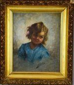 Filippo Marantonio 1863-1937 Girl with a flower