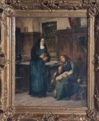 Adolf Humborg 1847 - 1921 Food in the monastery kitchen