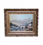 "Antique painting ""Winter"""