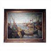 "Leon Ferdinand Dieperinck painting ""Port"""
