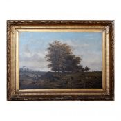 Antique painting by Henri Knip at the end of the 19th