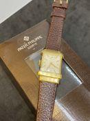 PATEK PHILIPPE 18ct GOLD WATCH WITH PATEK SERVICE BOX
