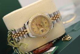 Rolex Datejust *Champagne* 26' - 18ct Gold & Steel (Rolex Certificate/ Box etc.)