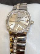 18ct WHITE GOLD DIAMOND SET CHAUMET WATCH - 115 GRAMS