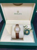 LADIES ROLEX CELLINI DIAMOND SET WATCH WITH BOX