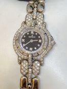 DIAMOND SET BERTOLUCCI 18k GOLD WATCH - 79 GRAMS