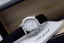 """Chopard Happy Sport - """"Floating Diamonds"""" with Mother of Pearl Dial"""
