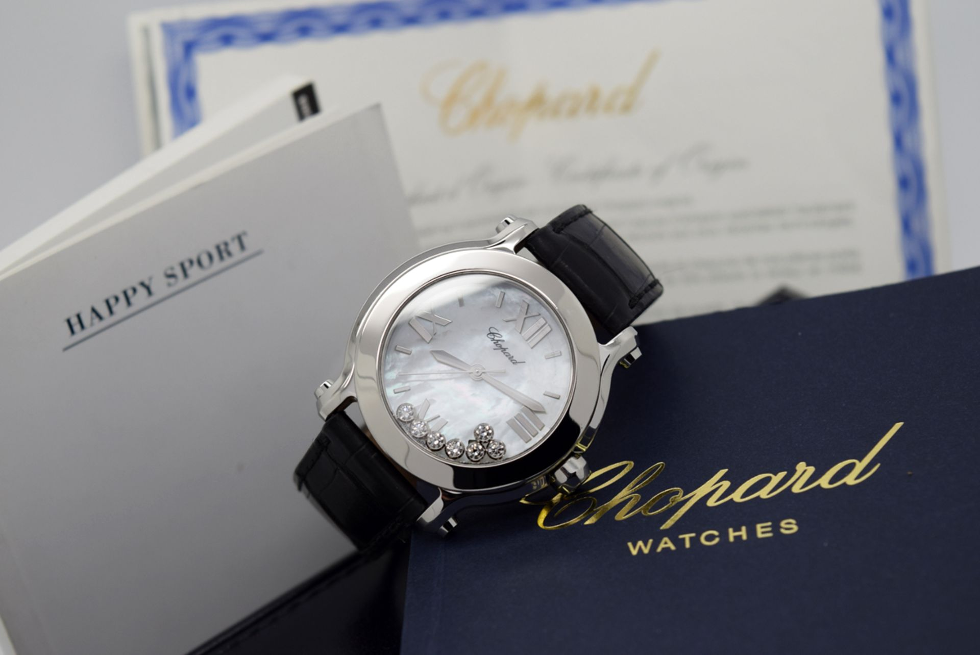 Chopard Happy Sport - Diamond Model with Mother of Pearl Dial! - Image 2 of 12