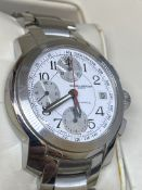 BAUME & MERCIER AUTOMATIC STAINLESS STEEL CHRONO WATCH