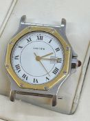 CARTIER GOLD & STEEL AUTOMATIC WATCH - NO STRAP