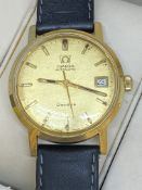 18ct GOLD OMEGA GENEVE AUTOMATIC WATCH - CIRCA 1970's