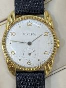 18ct GOLD WATCH MARKED TIFFANY & CO WITH FAB SUISSE MOVEMENT