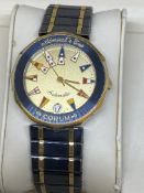 CORUM ADMIRALS CUP 18ct GOLD & S/STEEL AUTOMATIC WATCH