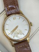 9ct GOLD WATCH - MOVEMENT SIGNED MARC FAVRE 595