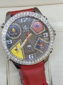 JACOB & CO 5 TIME ZONE DIAMOND SET WATCH 50mm