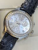 MONTEGA APPROX 2.50ct G/VS DIAMOND SET STAINLESS STEEL WATCH