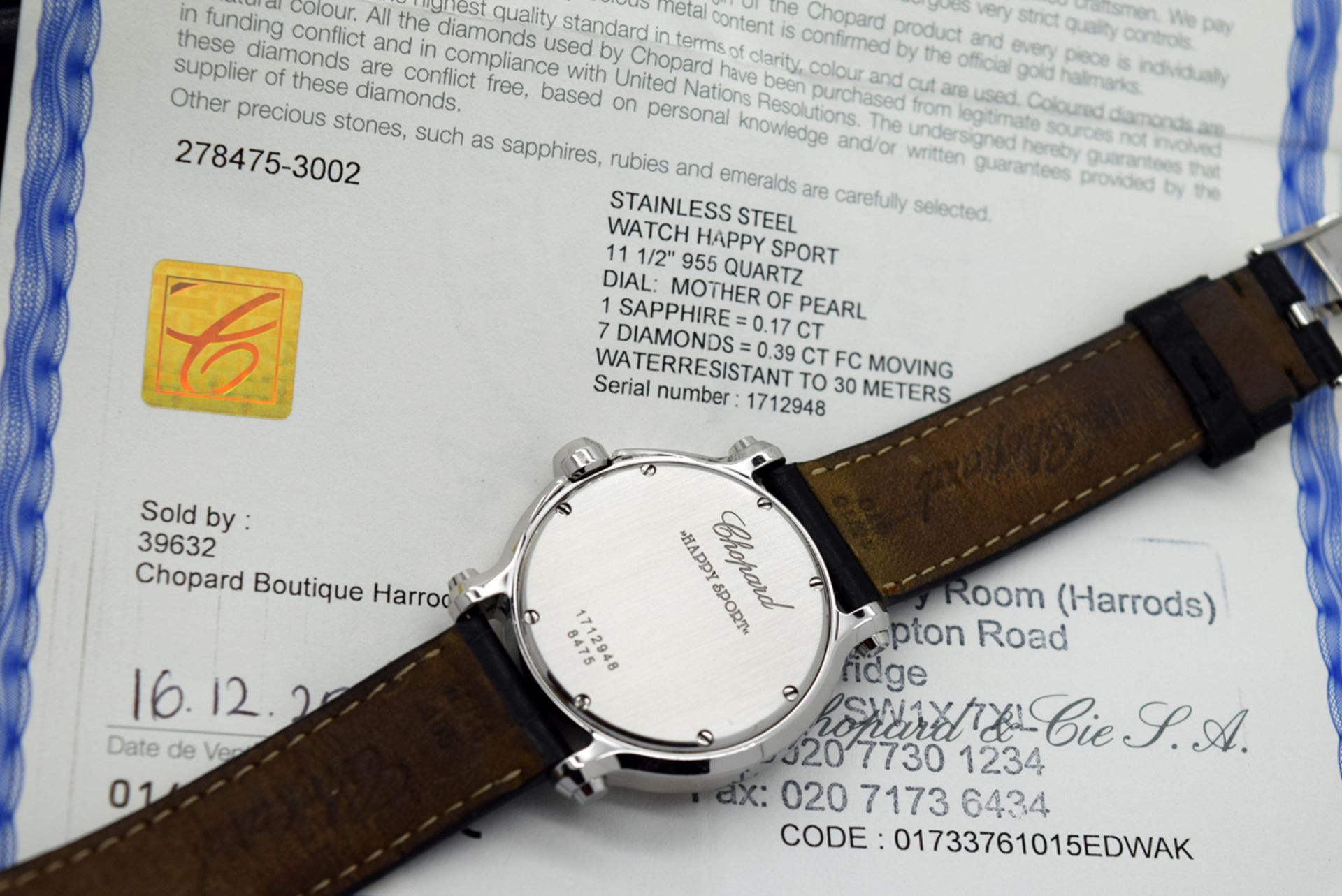 Chopard Happy Sport - Diamond Model with Mother of Pearl Dial! - Image 6 of 12