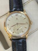 VINTAGE OMEGA 18ct ROSE GOLD EXTRA LARGE 38mm WATCH