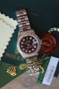 Rolex Datejust Stainless Steel - Black Diamond-set Dial