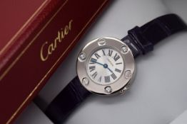 CARTIER 'LOVE' DIAMONDS WATCH - 18K WHITE GOLD AND DIAMONDS - BOX AND PAPERS!