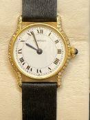 18ct GOLD DIAMOND SET CARTIER WATCH