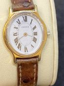 CARTIER WHITE & YELLOW 18ct GOLD WATCH