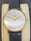 18k GOLD LONGINES WATCH - 27 GRAMS