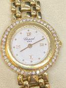 18ct GOLD & 0.70ct DIAMOND SET LADIES CHOPARD WATCH - 57 GRAMS