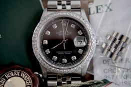 ROLEX STEEL DATEJUST 36' (GENTS) SLATE GREY DIAL