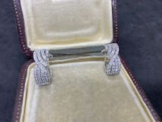 9ct WHITE GOLD 1.00ct DIAMOND EARRINGS