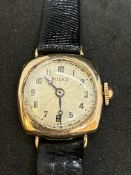 VINTAGE ROLEX 9ct GOLD WATCH - APPROX 1946-1948