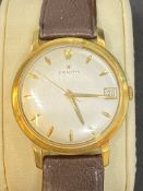 18ct GOLD ZENITH WATCH