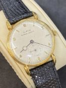 VINTAGE GLYCINE BIENNE GENEVE 18ct GOLD WATCH