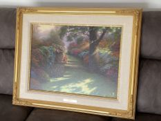 THOMAS KINKADE - INTERNATIONAL PROOF - LITHOGRAPH HAND HIGHLIGHTED PLUS REAR SIGNED DRAWING