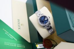 Rolex Datejust - Ladies 26mm - Stainless Steel with Navy Dial