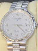 LONGINES 18ct WHITE GOLD DIAMOND SET WATCH - APPROX 90 GRAMS