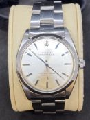 ROLEX OYSTER PERPETUAL STAINLESS STEEL AUTOMATIC WATCH