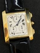 18ct GOLD CARTIER CHRONOGRAPH WATCH