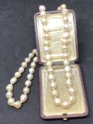 "BAROQUE PEARL NECKLACE - APPROX 20"" LONG"
