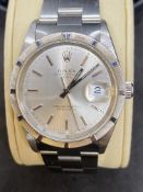 ROLEX OYSTER PERPETUAL DATE STAINLESS STEEL WATCH