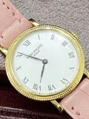 18ct YELLOW GOLD 25mm PATEK PHILIPPE CALATRAVA LADIES WATCH WITH BOX