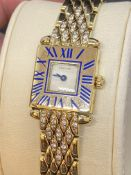 18ct GOLD CARTIER DIAMOND SET WATCH