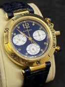 CARTIER YELLOW 18ct GOLD PASHA CHRONOGRAPH WATCH