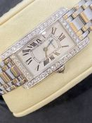18ct WHITE GOLD CARTIER DIAMOND SET WATCH