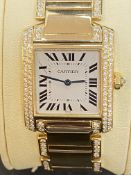 18ct GOLD DIAMOND SET CARTIER WATCH