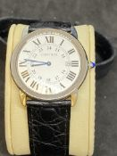 CARTIER SWISS MADE STAINLESS STEEL WATCH