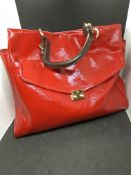 MULBERRY RED COLOURED HANDBAG