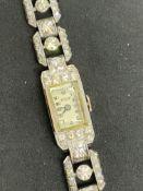 1920's GOLD & G/H-VS DIAMOND COCKTAIL WATCH - 25 GRAMS